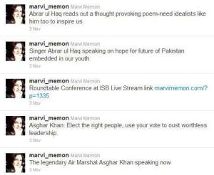 Marvi praising AG and AH